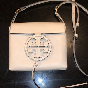 Tory Burch Cream Miller Leather Crossbody